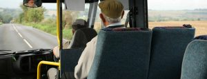 Older person on bus 1