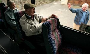 Older person on bus 2
